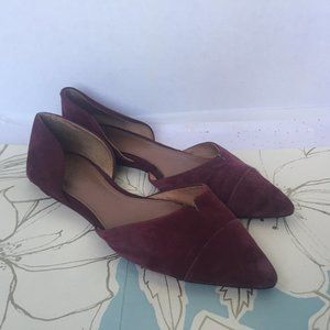 Vince Camuto Purple D'orsay Pointed Toe Flats 8.5